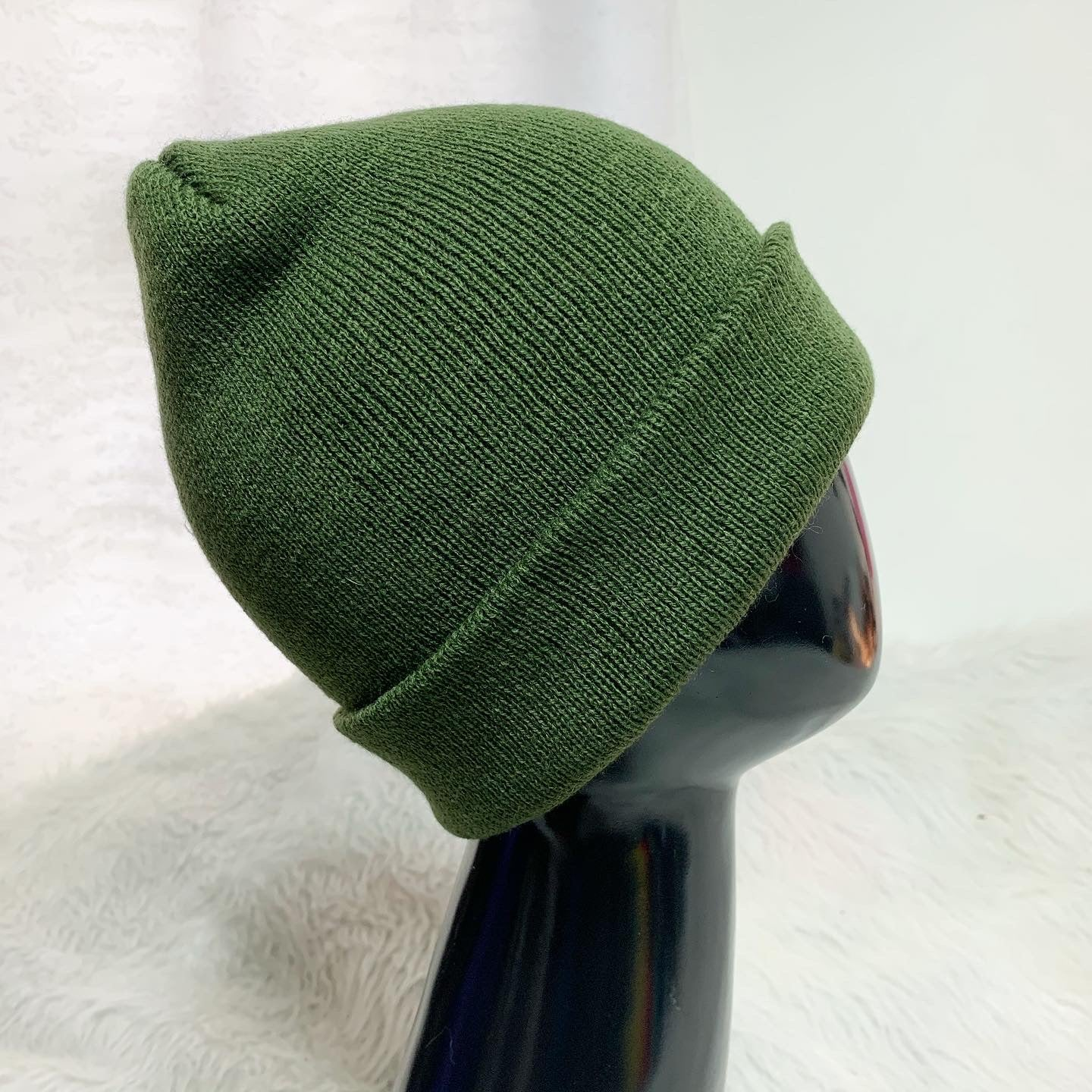 Solid Olive Satin Lined Hat