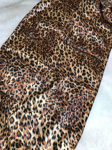 Golden Leopard Long Rectangle Scarf
