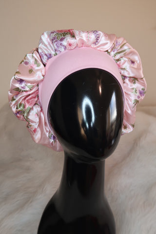 Soft Pink Headband Bonnet