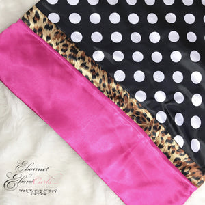 Polka Dot Leopard & Pink Pillowcase