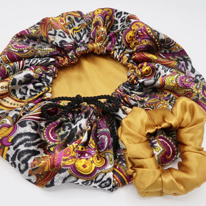 Golden Paisley Animal  with satin scrunchies