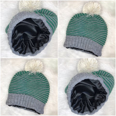 Green & Gray Toddlers Knit Hait