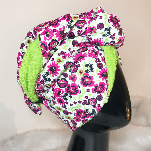 Pink & Lime Conditioning Turban