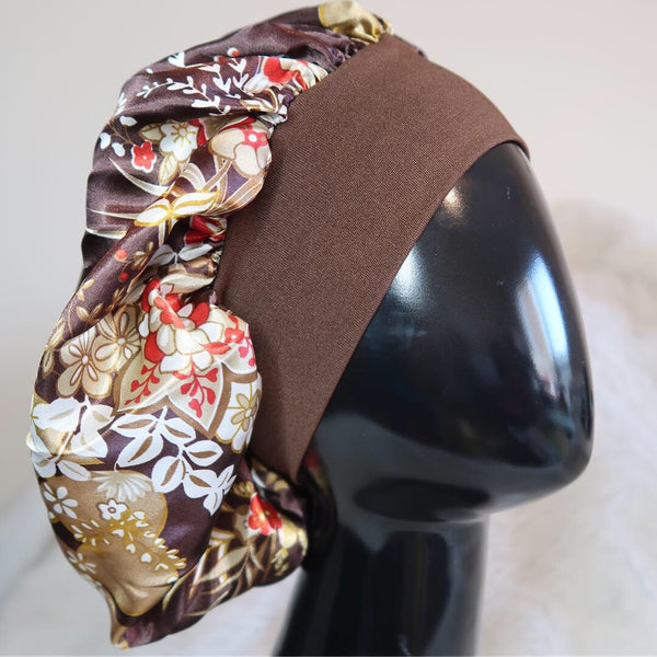 Chocolate Bronzed Headband Bonnet