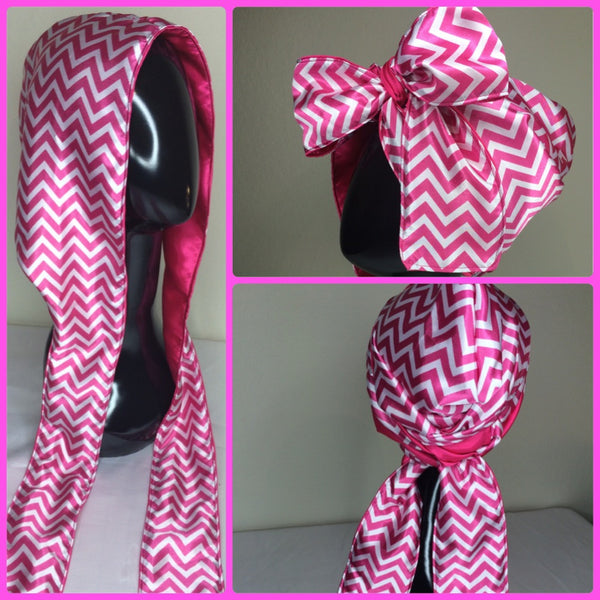 Pink Chevron Hooded Scarf