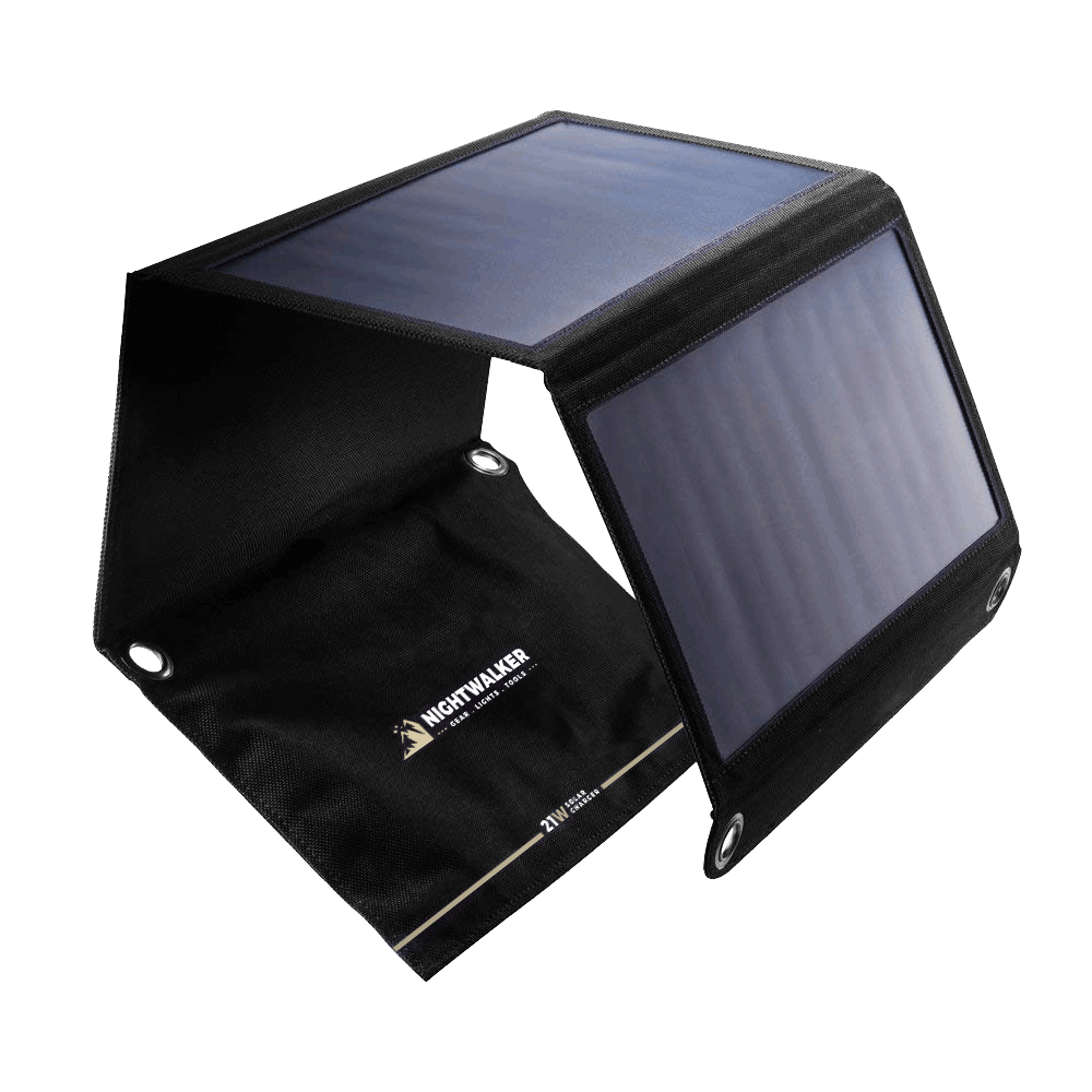 21W Foldable Solar Panel Charger (2 USB Ports)