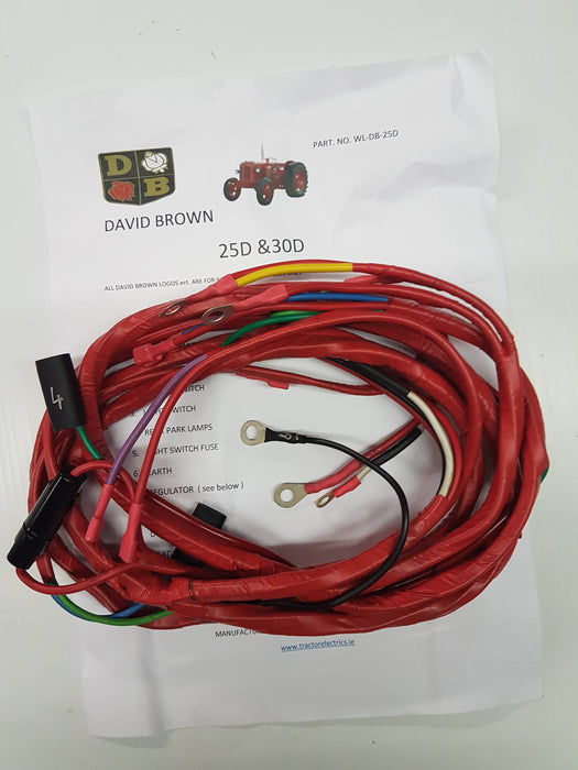 Tractor harness for David Brown 25D and 30D series tractors.