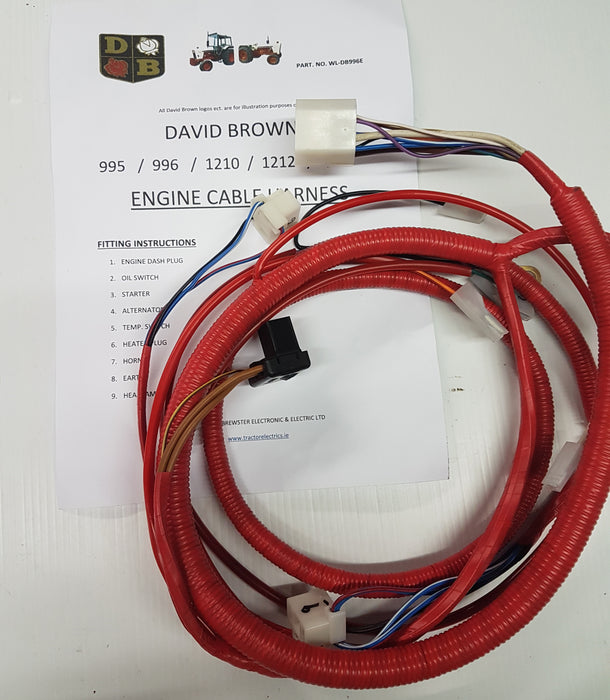 David Brown 995, 996, 1210, 1212 Engine Harness