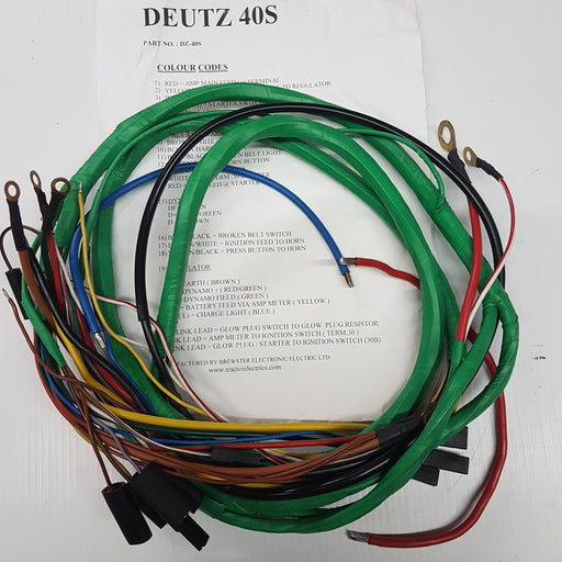 Deutz 40S Series Tractor Harness Or Loom