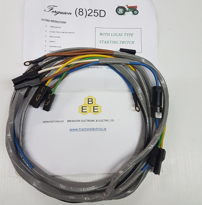 Tractor Harness for Ferguson 825 series tractors.