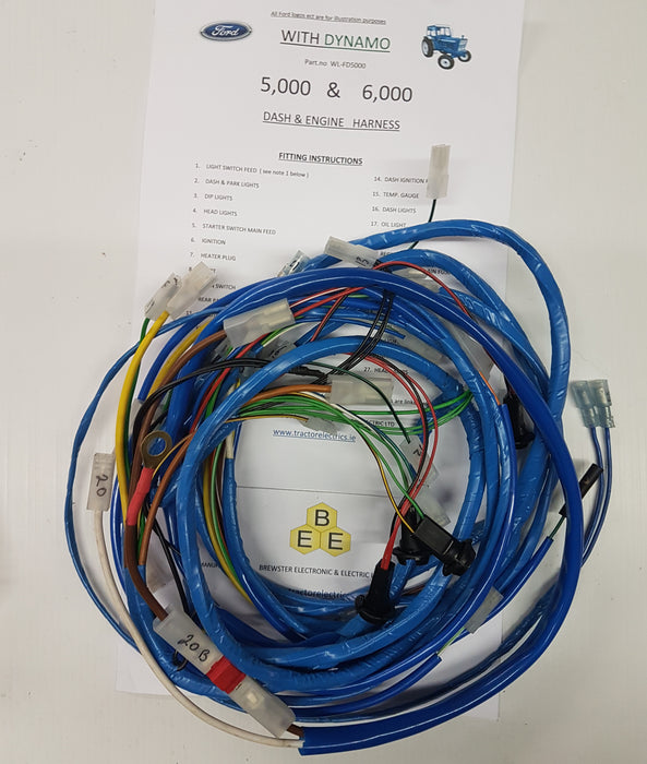 Ford 5000 Sel Wiring Harness