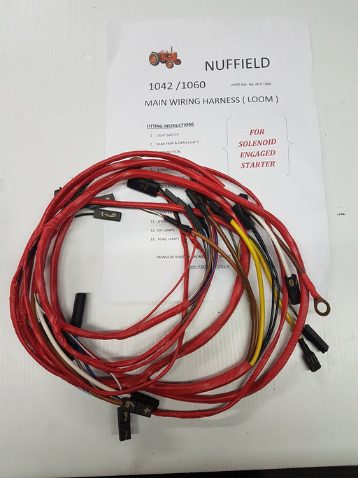 Nuffield tractor 1042 And 1060 series Wiring Harness.