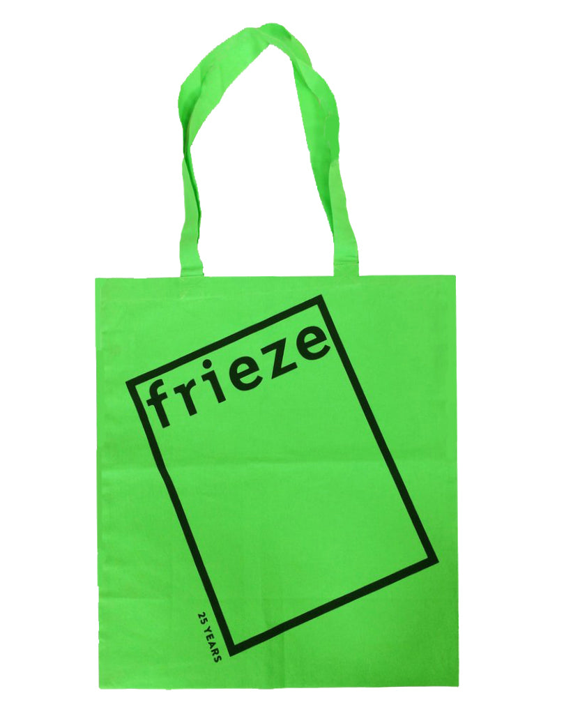 Limited edition neon frieze tote bag