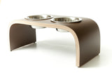Chocolate Brown Raised Dog Bowl Stand available in various sizes