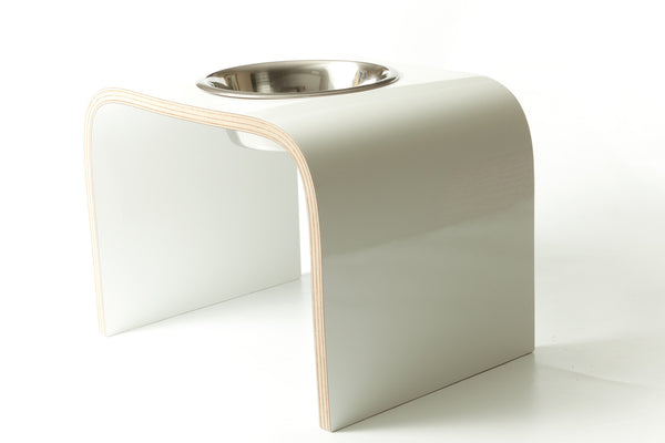 Elevated Single Dog Bowl Stand Wooden Dog Feeder Available in Various Colours Non-Slip Easy to Clean Design