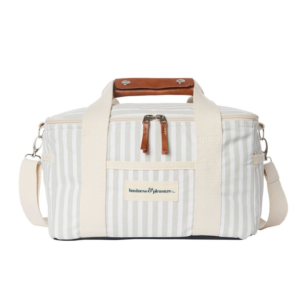 The Premium Cooler Bag - Lauren's Sage Stripe