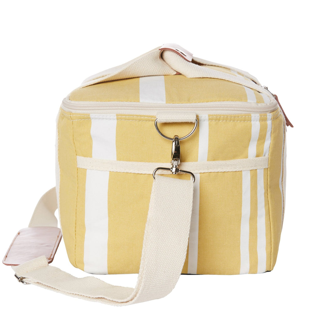 The Premium Cooler Bag - Vintage Yellow Stripe