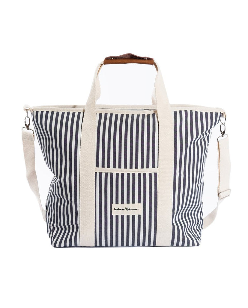 The Cooler Tote Bag - Lauren's Navy Stripe