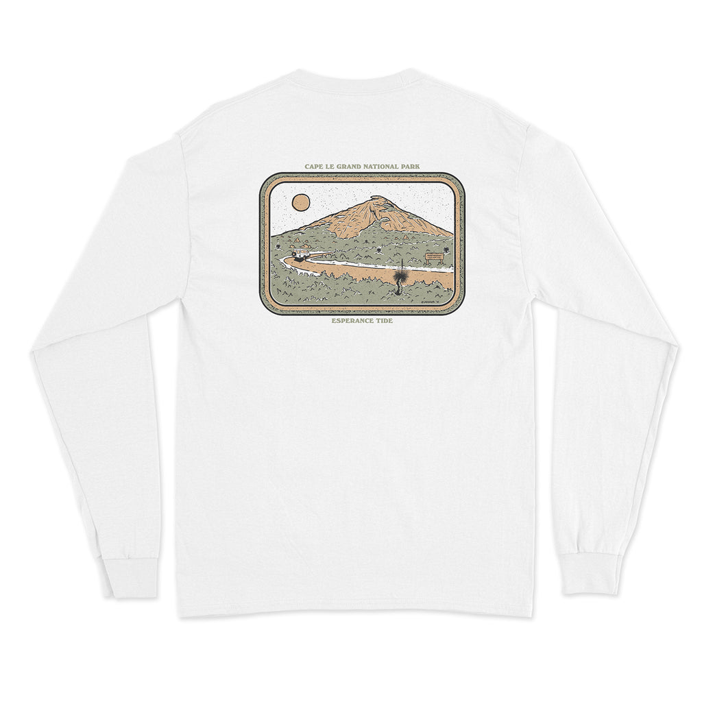 Cape le Grand Long Sleeve Tee - White