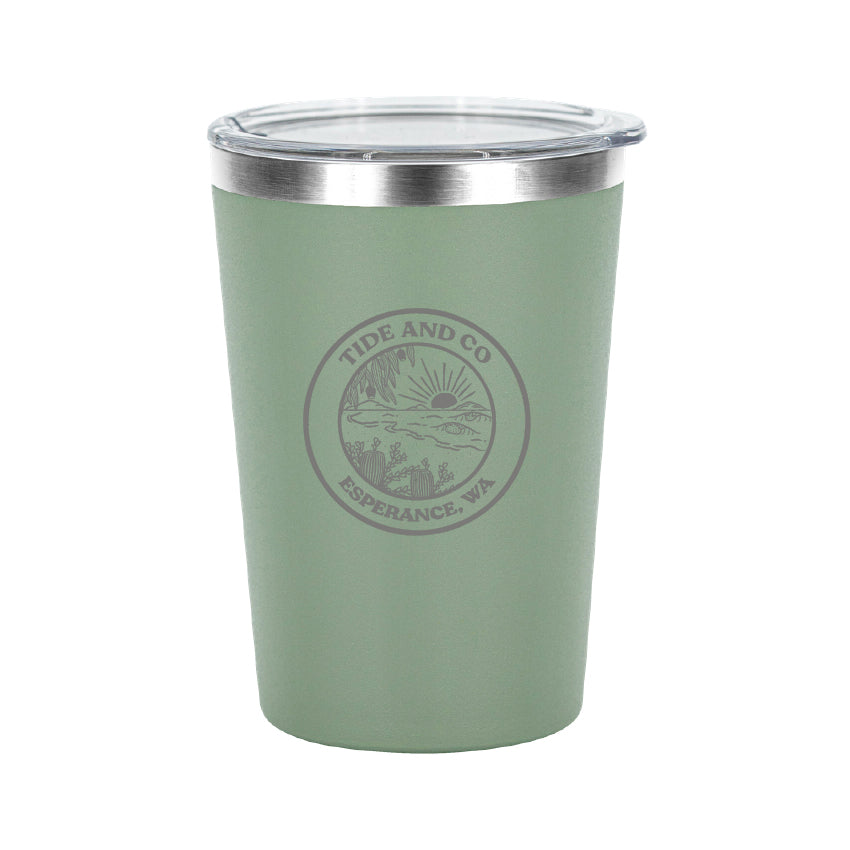 Tide & Co x Project Pargo Insulated Coffee Cup 12oz - Eucalypt Green