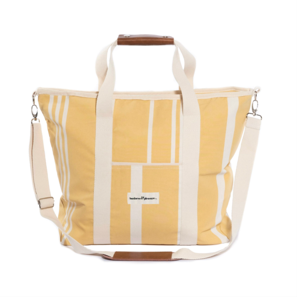 The Cooler Tote Bag - Vintage Yellow Stripe