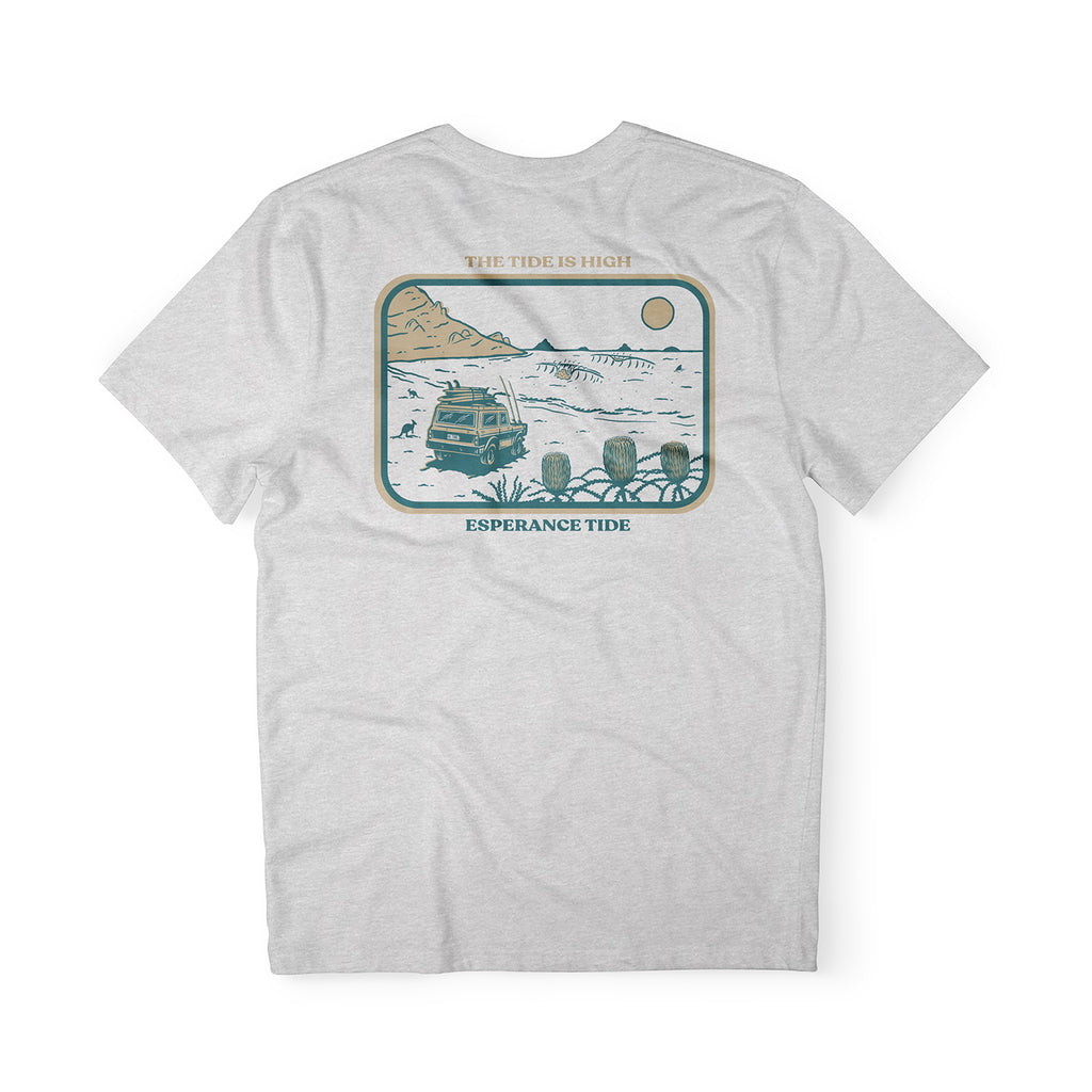 The Tide Is High Tee - Ash Grey