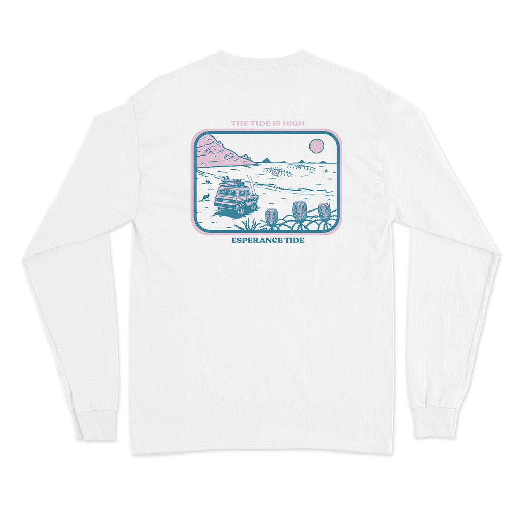 The Tide Is High Long Sleeve Tee - White
