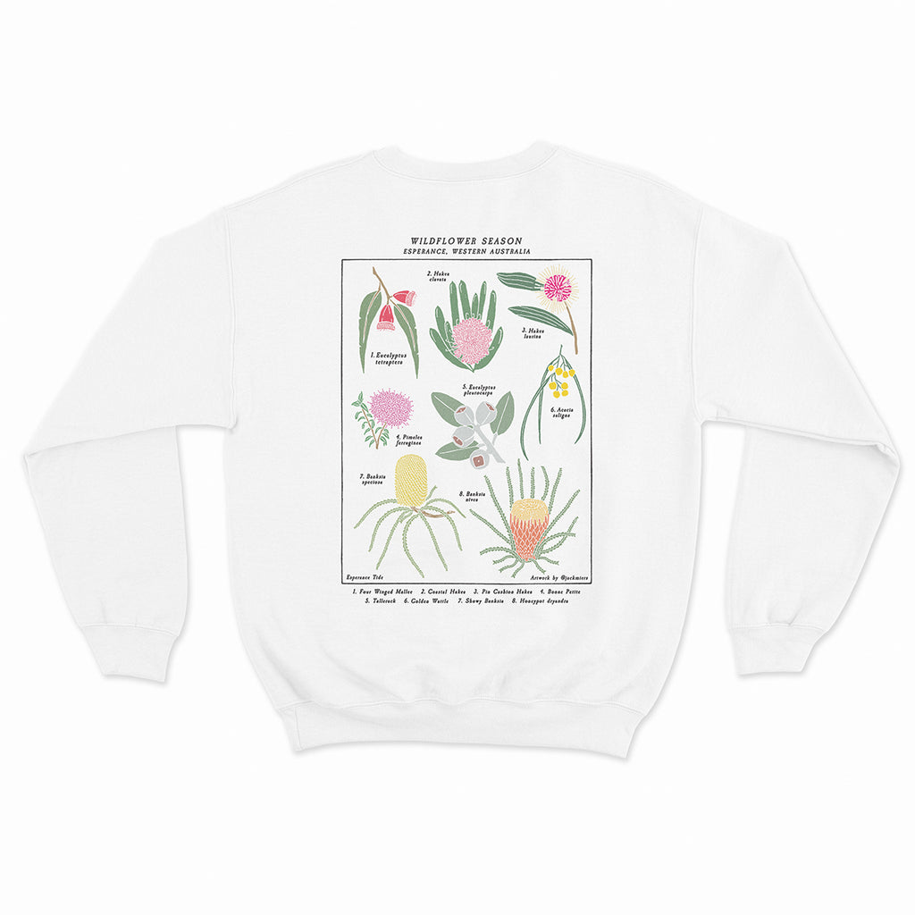 Wildflower Season Crew - White (PRE-ORDER)