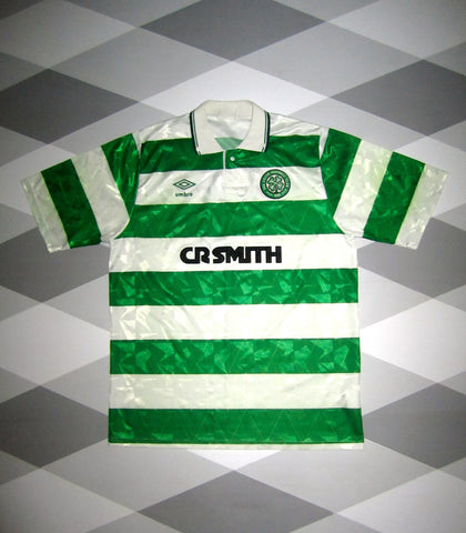 1989/91 Celtic Home Football Shirt L 1