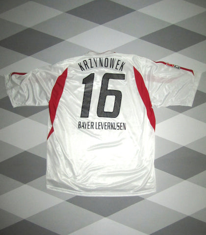 2003/04 Bayer Leverkusen Player Issue Away Football Shirt XL KRZYNOWEK 16 1