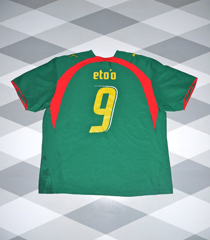 2006/08 Cameroon Home Football Shirt 2XL * ETO'O 9 * 1