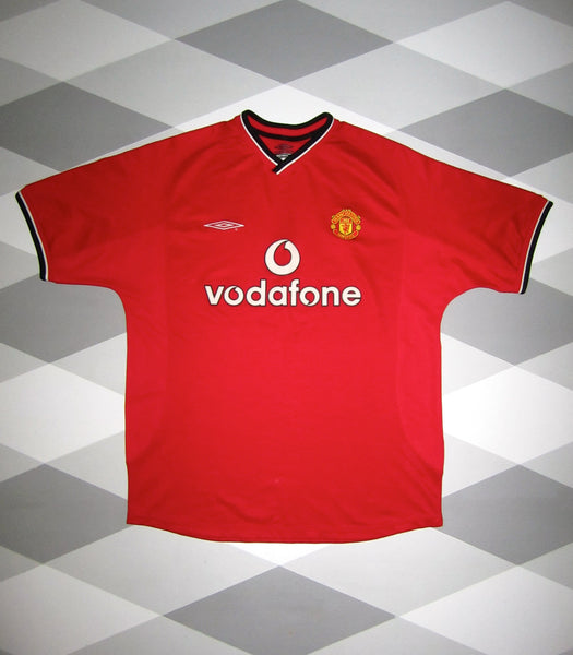 Manchester United home shirt 2000 2002 large