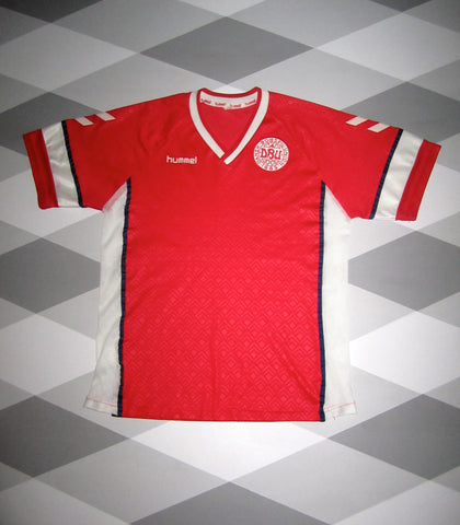 1990/92 Denmark Home Shirt L
