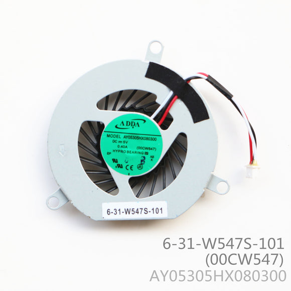 AY05305HX080300 00CW547 CPU Cooling Fan 6-31-w547s-101