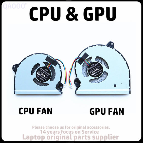 FCN FJ9U / FJ9T FOR ASUS ROG Strix GL702VM GL702VS CPU & GPU COOLING FAN