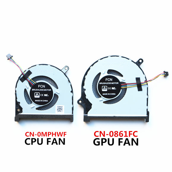 DELL INSPIRON 7590 7591 P83F Laptop CPU & GPU Cooling Fan CN-0MPHWF CN-0861FC