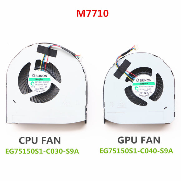 EG75150S1-C030-S9A And EG75150S1-C040-S9A For Dell Precisio 7510 m7510 M7520 7710 m7710 M7720 Laptop Cpu Cooling Fan