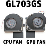 ASUS ROG STRIX GL703S GL703GS GL703GM S7Bm S7B S7BS Laptop CPU Cooling Fan DC12V 0.4A