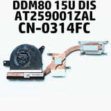 CN-0314FC DELL Latitude 5590 5580 CPU COOLING FAN (DIS) AT259001ZAL  EG50050S1-CA80-S9A