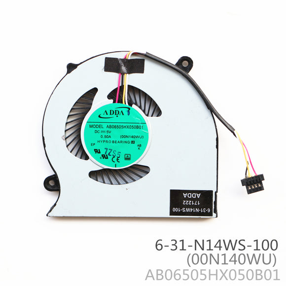AB06505HX050B01 00N140WU 6-31-N14WS-100 Cpu Cooling Fan 4Pin