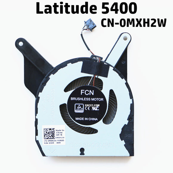 Dell Latitude 5400 Cpu Cooling Fan FCN FL39 DFS5K12304363Q DC28000MRFL DP/N:0MXH2W