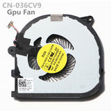 Dell XPS15 9550 Cpu Fan GPU Cooling Fan CN-0RVTXY CN-036CV9