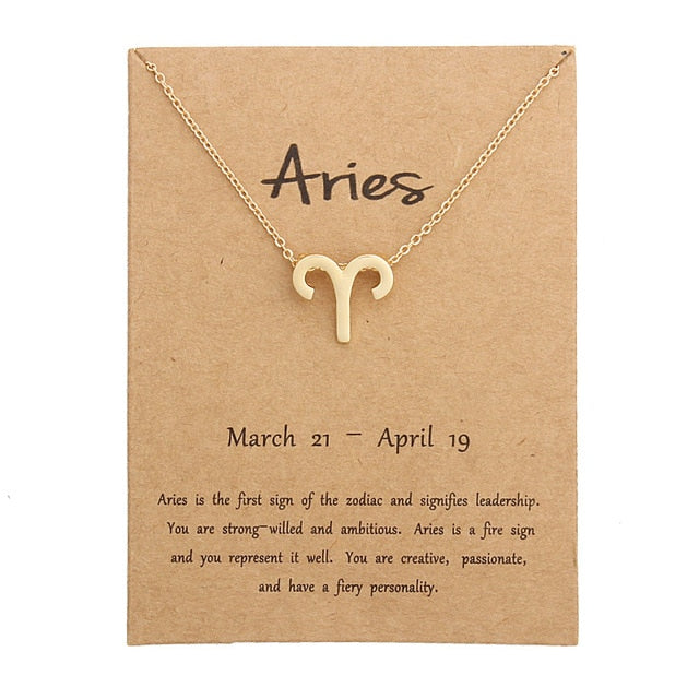 Gold Plated Aries Necklace