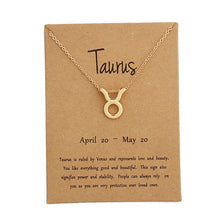 Load image into Gallery viewer, Gold Plated Taurus Necklace