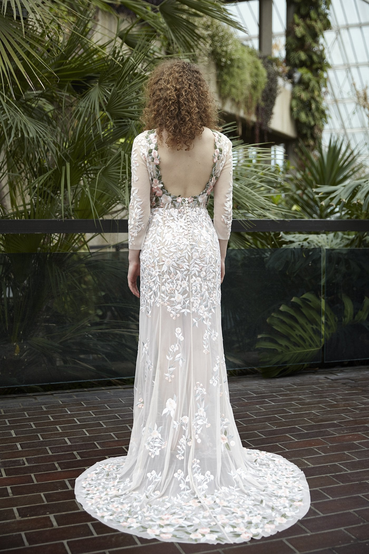 Miniature Rose Gown In Botticelli With Open Back Detail Hermione De Paula Bridal