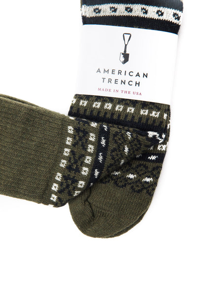 AMERICAN TRENCH - FAIR ISLE SOCKS (MERINO CASHMERE BLEND)