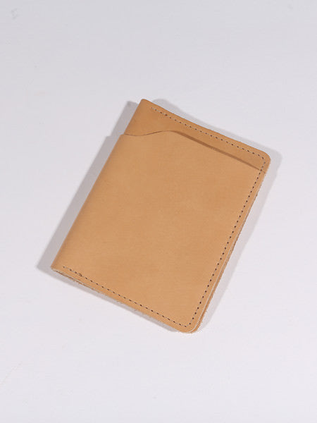 ASHLAND LEATHER CO. - FAT HERBIE DOUBLE BIFOLD WALLET - CHROMEXCEL (NATURAL ESSEX)