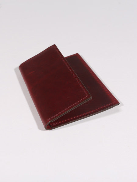 "ASHLAND LEATHER CO. - LOUIS ""LITTLE NEW YORK"" FRONT POCKET WALLET - CHROMEXCEL (CRIMSOM RED CXL)"