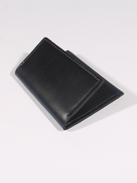 "ASHLAND LEATHER CO. - LOUIS ""LITTLE NEW YORK"" FRONT POCKET WALLET - CHROMEXCEL (MIDNIGHT BLUE)"