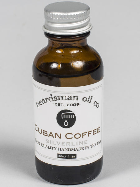 THE BEADSMAN OIL CO - BEARD OIL - SILVER LINE (CUBAN COFFEE)